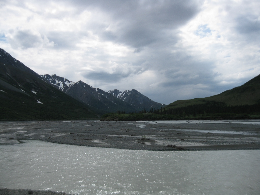 Icy river on the Denali